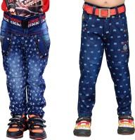 AJ Dezines Boys Casual Jeans Jeans(Blue)