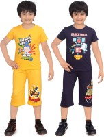 Dongli Kids Nightwear Boys Cotton(Multicolor)
