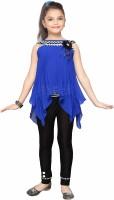 Aarika Girls Party(Festive) Top Dress(Blue)