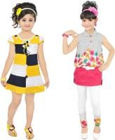 Kool Kids Girls Casual Dress Jegging(Yellow)