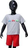 Starsy Boys Casual T-shirt Pant(Grey)