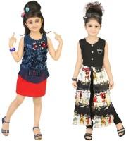 Kool Kids Girls Casual Dress(Multicolor)