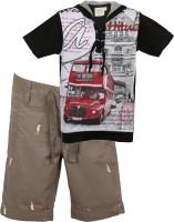 Tonyboy Boys T-shirt Three Fourth Pant(Multicolor)