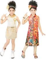 Kool Kids Girls Casual Dress(Beige)