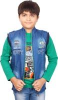 Aedi Boys Casual T-shirt Jacket(Green)