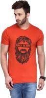 Koolpals Printed Men Round Neck Orange T-Shirt