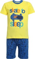 FS Mini Klub Girls Casual T-shirt Shorts(Yellow)