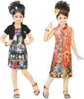Kool Kids Girls Casual Dress(Black)