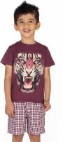 Ventra Boys Casual T-shirt(Brown)