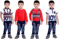 Bad Boys Boys Casual T-shirt Jeans(Red)