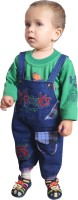 Ahhaaaa Boys Dungaree T-shirt(Green)