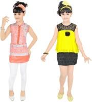 Kool Kids Girls Casual Dress Jegging(Orange)