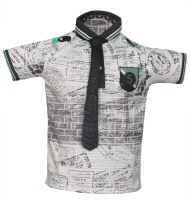 Awack Boys T-shirt Tie(Green)