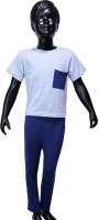 Starsy Boys Casual T-shirt Pant(Light Blue)