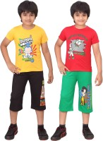 Dongli Kids Nightwear Boys Printed Cotton(Multicolor)