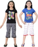Sini Mini Kids Nightwear Girls Printed Cotton
