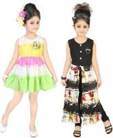 Kool Kids Girls Casual Dress(Yellow)