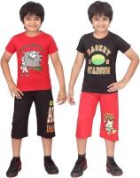 Dongli Kids Nightwear Boys Printed Cotton(Multicolor)