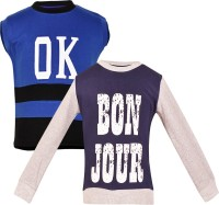Gkidz Boys Casual T-shirt(Dark Blue)