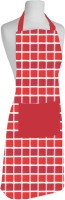 Airwill Cotton Home Use Apron - Free Size(Red, Single Piece)