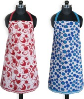 Smarthome Cotton Home Use Apron - Free Size(Green, Pack of 2)