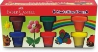 FABER-CASTELL 6 MODELLING DOUGH Art Clay(300 g)