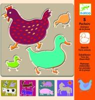 Djeco Stencils Farm Animals