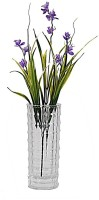 Orchard White Crystal Flower vase with Blue Flowers Multicolor Assorted Artificial Flower  with Pot(18 inch, Pack of 1)