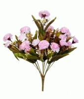 Orchard Pink Carnations Artificial Flower(15.5 inch, Pack of 1)