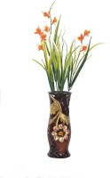 Orchard Multicolor Assorted Artificial Flower  with Pot(18 inch, Pack of 1)