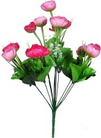 Orchard Pink Ranunculus Artificial Flower(16 inch, Pack of 1)