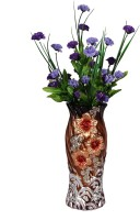 Orchard Multicolor Carnations Artificial Flower  with Pot(17.5 inch, Pack of 1)