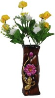 Orchard Multicolor Rose Artificial Flower  with Pot(18 inch, Pack of 1)