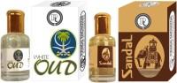 Purandas Ranchhoddas PRS Sandal & White-Oud 6ml Each Herbal Attar(Oud (agarwood))