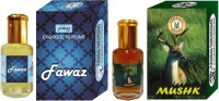 Purandas Ranchhoddas PRS Fawaz & Mushk Attar 6ml Each Herbal Attar(Musk)