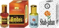 Purandas Ranchhoddas PRS Amber & Shah-Jahan 6ml Each Herbal Attar(Amber)