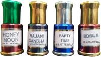 Kr Attarwala Honeymoon Attar, Rajnigandha Attar, Party-Time Attar and Royal-Men Attar Gift Set(Set of 4)