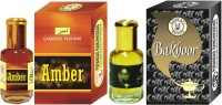Purandas Ranchhoddas PRS Amber & Bakhoor Attar 6ml Each Herbal Attar(Islamic Bakhur)