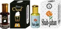 Purandas Ranchhoddas PRS Dehnal-Oud & Shah-Jahan 6ml Each Herbal Attar(Dehn el oud)