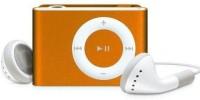 Yuvan Hq Metallic Body Shuffle Design MP3 Player(Metallic Orange, 0 Display)