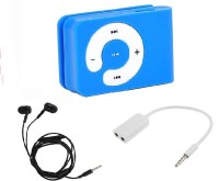 Microvelox Combo pack of mp3 player small + earphone + audio spilter MP3 Player(Multicolor, 0 Display)