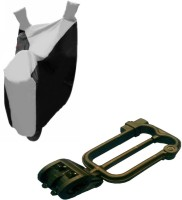 Gking 1 Grey Black bike body cover With 1 Helmet Lock Combo