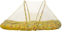 Morisons Baby Dreams Bedding set Crab printed with Mosquito Net Convertible Mattress(Fabric, Yellow)