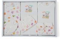 Stuff Jam Ababy 9 Piece Baby Apparels Gift Set(Cream)