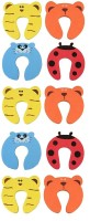 ARRA Baby Safety Door Stopper Protection Jammers Kids Infant 10 Pcs(Multicolor)