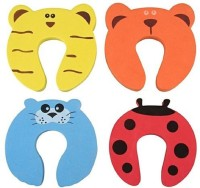 ARRA Baby Safety Door Stopper Protection Jammers Kids Infant 4 Pcs(Multicolor)