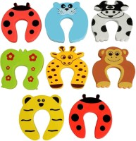 Little Grin Baby Safety Cartoon Door Stopper 8 Pc Set(Multi Colour)
