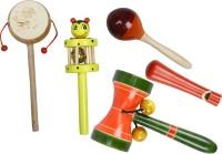 Kaatru Yellow Comboset Wooden Toys Rattle(Multicolor)