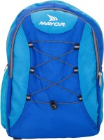 View Mayor 17 inch Laptop Backpack(Blue) Laptop Accessories Price Online(Mayor)