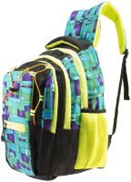 Gleam Trendy Multicolour School & College Bag ( Green & Black ) 30 L Backpack(Green)